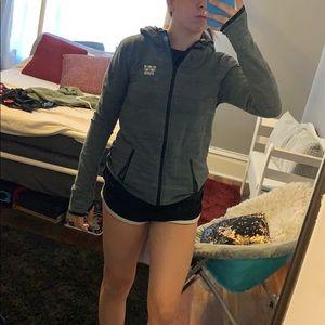 Tops - NWOT VS Pink grey zip up jacket